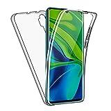 SDTEK Funda para Xiaomi Mi Note 10 / Note 10 Pro Cuerpo Completo Protección Delantera Trasera Cubierta 360 Transparente Suave