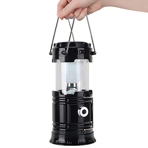Xatan LED-Campinglaterne, Solarladung und USB-betriebene Taschenlampe für den Außenbereich, geeignet für Überlebenskits für Hurrikan, Notlicht, Sturm, Ausfälle, tragbare Außenlaternen