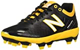 New Balance Men's 4040 V5 TPU Molded Baseball Shoe, Black/Yellow, 11.5 M US