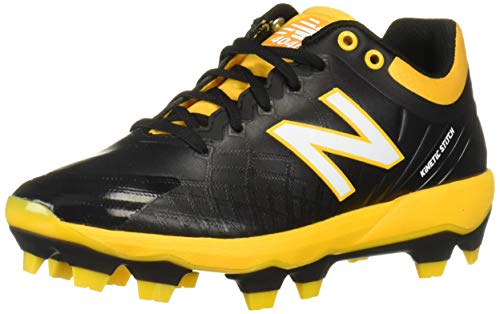 New Balance 4040v5 Herren-Baseballschuh, Grau (schwarz/gelb), 47 EU