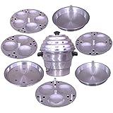 Aluminium Idli Pot (10L), Silver