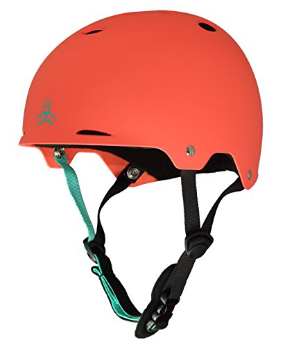 Triple Eight Gotham Water Helmet for Wakeboard and Waterskiing, Neon Tangerine Matte, Medium
