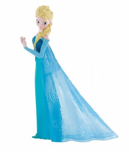 Bullyland 12961 - Spielfigur, Walt Disney Die Eiskönigin - Elsa, ca. 9,5 cm groß, liebevoll handbemalte Figur, PVC-frei, tolles Geschenk für Jungen und Mädchen zum fantasievollen Spielen