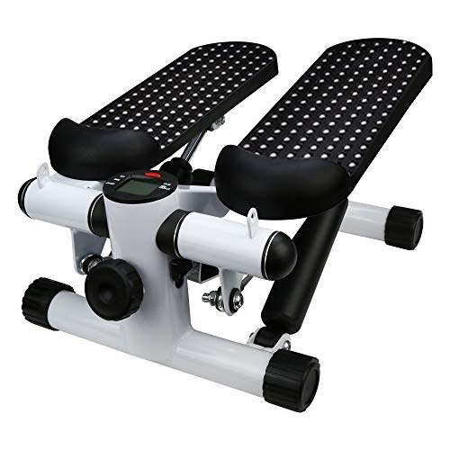 Dasuy Household Mute Stepper Hydraulic Mute Multi-Function Pedal Indoor Sports Stepper Legs-Shipped from USA (Black,White)