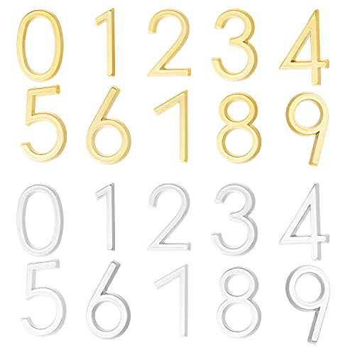 LTBLBY 20PCS Mailbox Numbers 0-9 Self Stick 3D Door Numbers 2 Inch Address Number Stickers For Signs, Door, Cars, Trucks, Home, Address Number