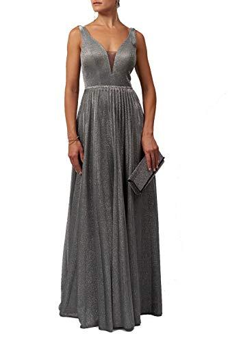 Mascara Holzkohle Mc129215 Plissierte Rock Schimmern Kleid 44