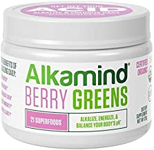 Alkamind Daily Greens - GET Off Your Acid with 21 Superfoods to Alkalize & Energize & Balance pH (Berry - Raw Dehydrated Greens)