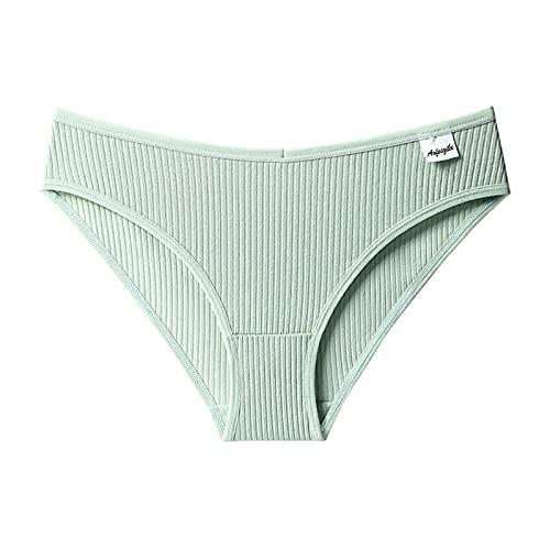 Bragas de mujer de algodón, cintura alta, elásticas, hipster, sin costuras, para levantar la cadera, lencería sexy para mujer, bragas clásicas, bragas para mujer, verde, L