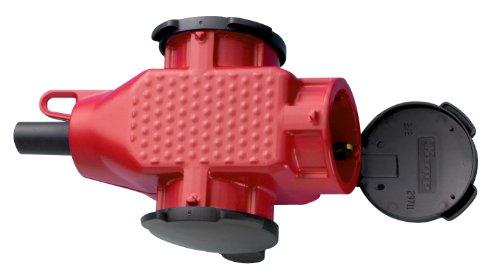 Kopp 183312000 3-fach Schutzkontakt-Kunststoffkupplung, rot