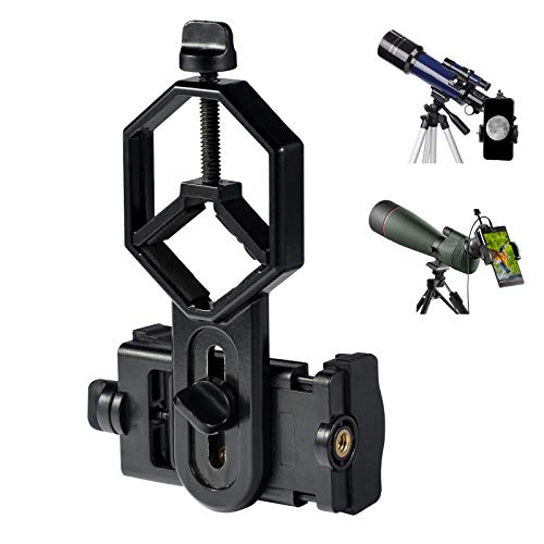 Adaptador de Teléfono para Telescopio Microscopio Monoculare Prismáticos Telescopios Terrestres Soporte Telefónico Universal Grabación de Foto/Video