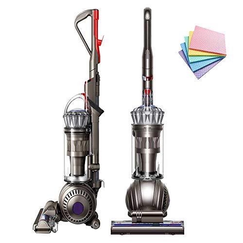 Dyson Ball Multi Floor Origin Vacuum Cleaner Animal Pro: High Performance HEPA Filter Upright Bagless Height Adjustment Telescopic Handle Self Propelled Rotating Brushes (Silver) + iCarp Sponge Cloth