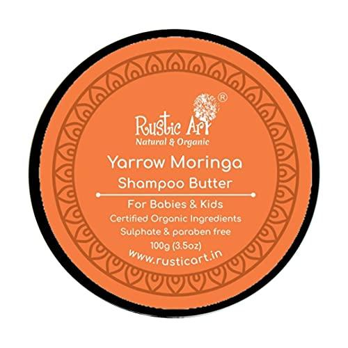 Rustic Art Yarrow Moringa Shampoo Butter, for Babies & Kids, 100 Gm