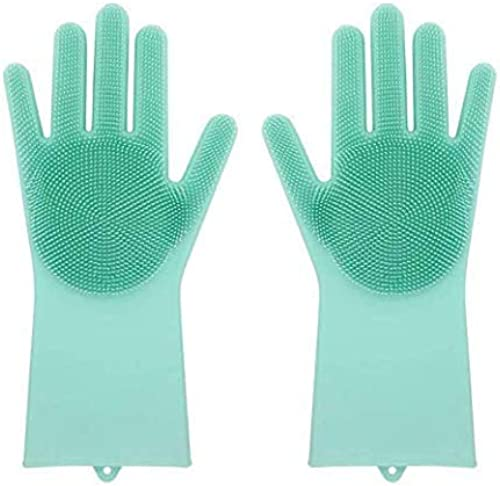 Max Home Magic Silicone Dish Washing Hand Gloves For Cleaning Kitchen Car Bathroom And Pet Grooming Color As Per Availability 1 Pair