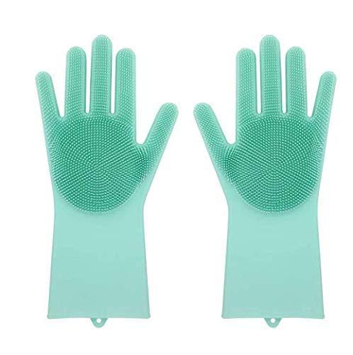 Max Home Magic Silicone Dish Washing Gloves (Green)
