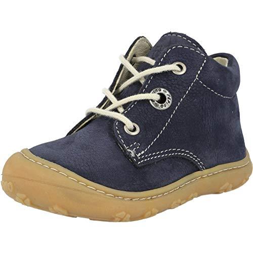 RICOSTA Pepino Unisex - Kinder Stiefel Cory, WMS: Mittel, Freizeit leger Boots schnürstiefel Leder Kind-er Kids junior toben,See,23 EU / 6 UK