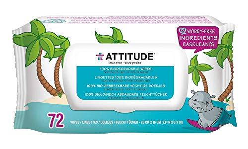 Toallitas biodegradables Attitude para bebés para la imagen de productos de piel sensible