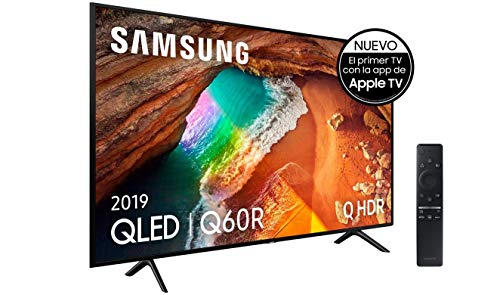 "Samsung QLED 4K 2019 65Q60R - Smart TV de 65"" con Resolución 4K UHD, Supreme Ultra Dimming, Q HDR, Inteligencia Artificial 4K, One Remote Control, Apple TV y Compatible con Alexa"