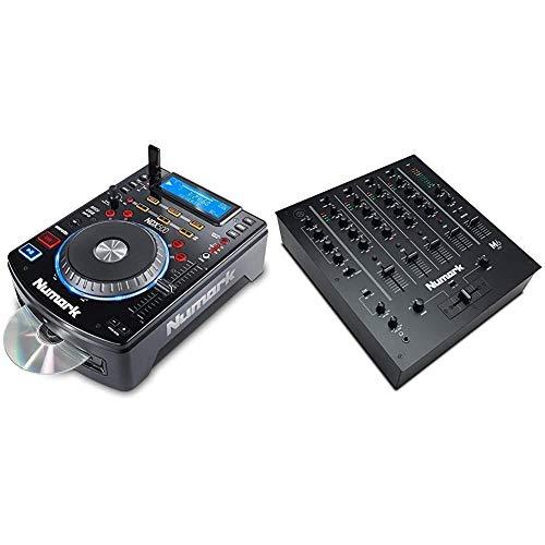 Numark NDX500 - eigenständiger USB-/CD-Player und Software-Controller mit berührungsempfindlichem Jogwheel & M6 USB - 4-Kanal-DJ Mischpult mit integriertem Audio-Interface, 3-Band-Equalizer