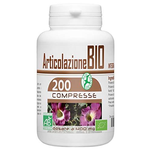 Articolazione Bio - 400 mg - 200 compresse - una miscela di 3 piante biologiche per prendersi cura delle vostre articolazioni