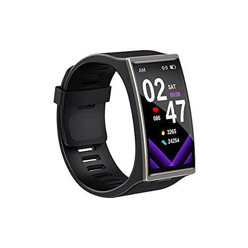 Fitness Trackers, IP68 Waterproof Activity Trackers, Bluetooth Touch Screen Smart Watches with Blood Pressure, Heart Rate Monitor, Sleep Monitor, Calorie Counter and Step Counter for iOS and Android