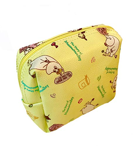 Moomin Cosmetics Makeup Pouch Purse Bag Case   Have You Met The Moomins   Great for make up and school accessories (Yellow)