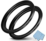 58mm-67mm Step Up Ring 58mm Lens to 67mm Filter (2 Pack), WH1916 Camera Lens Filter Adapter Ring Lens Converter Accessories