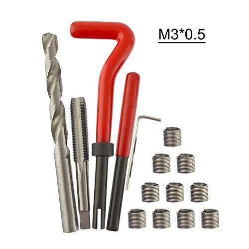 KKmoon 15 Stücke Gewinde Repair Set Werkzeug Helicoil Reparatur Set M3X0.5