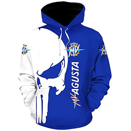 MAUXpIAO Hoodies,Chaquetas,Camiseta Mv-Ag_Ust Punisher 3D Completo Impresión Delgado Hombre Y Mujer Casual Poliéster Sweatshirt Suelto / A1 / XXXXL