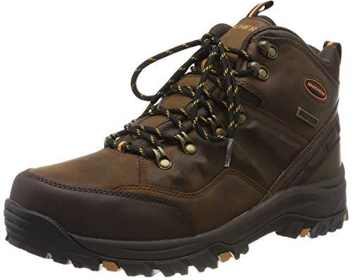 Skechers Men's RELMENT- TRAVEN Classic Boots, Brown (Dark Brown Leather Cdb), 12 UK 47.5 EU