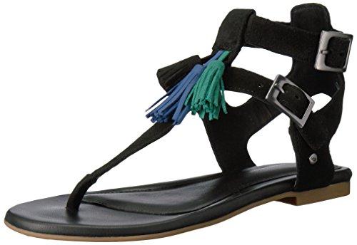 UGG Women's Lecia Gladiator Sandal, Black, 9 US/9 B US