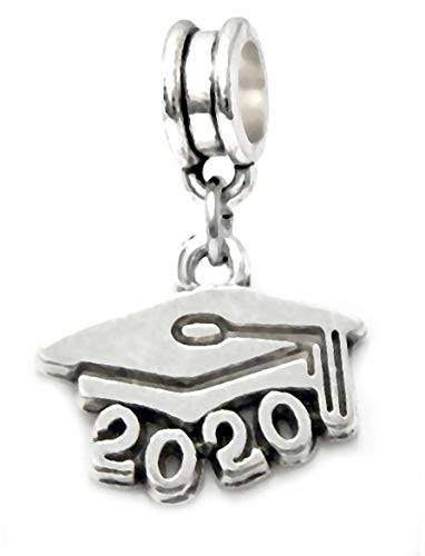 Dangle Graduation Cap Charm Bead