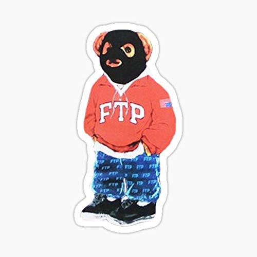FTP Bear Sticker - Sticker Graphic - Auto, Wall, Laptop, Cell, Truck Sticker for Windows, Cars, Trucks