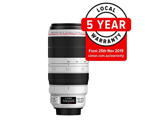 Canon EF 100-400mm f/4.5-5.6L IS II USM - Objetivo para Canon (Distancia Focal 100-400mm, Apertura f/4.5-5.6L IS II USM), Negro y Blanco