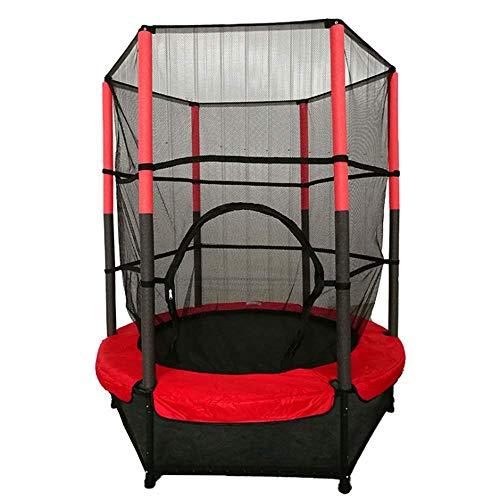 Cama de Salto de trampolín de Seguridad para niños,con Carcasa de Red de Seguridad y Almohadilla de Espuma; r Hamaca Redonda Interior al Aire Libre Actividad Deportiva