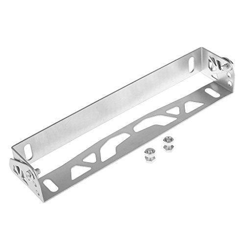 Shiwaki Silver License Number Plate Frame Bracket Holder For Universal Japanese Cars