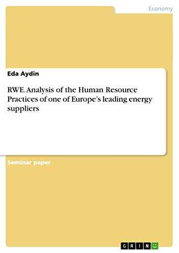 RWE. Analysis of the Human Resource Practices of one of Europe's leading energy suppliers (English Edition)