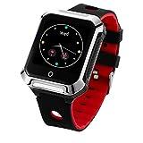 Muvit iO MIOSMW014 SOS Health Senior Rojo Reloj Localizador GPS con Botón de SOS