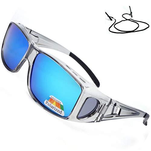 Las gafas de sol polarizadas se ajustan sobre las gafas Envuelven alrededor...