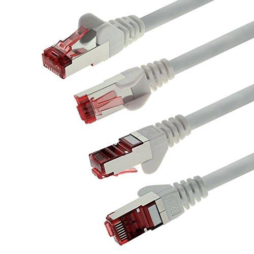 1aTTack 83509 5m CAT6 Netzwerkkabel CAT.6 Patchkabel Ethernetkabel SFTP PIMF 1000 Mbit s 5 Stück weiß