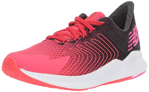 New Balance Women's FuelCell Propel V1 Running Shoe, Black/Red, 5 M US