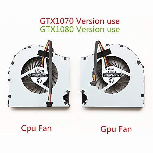 DXCCC Gaming Laptop CPU Lüfter Für EVGA SC17 CPU Lüfter Fan GTX1070 GTX1080 (Gpu Fan)