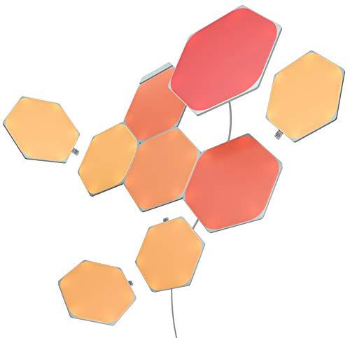 Nanoleaf Shapes Hexagons Kit de Démarrage - 9 Panneaux Lumineux