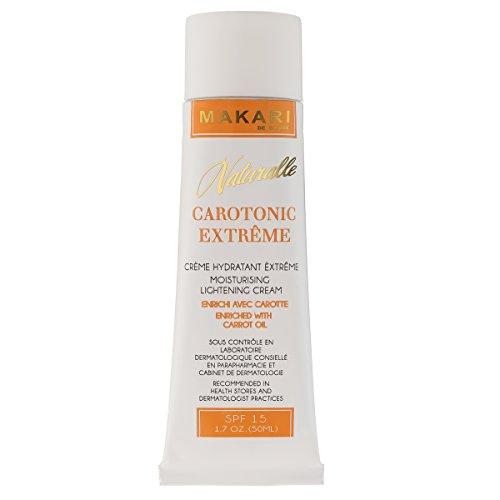 Makari Naturalle Carotonic Extreme Lightening Gesichtscreme 1.7oz - Feuchtigkeitsspendende & Toning Creme mit Karottenöl & SPF 15 - Anti-Aging & Whitening Behandlung für dunkle Flecken,