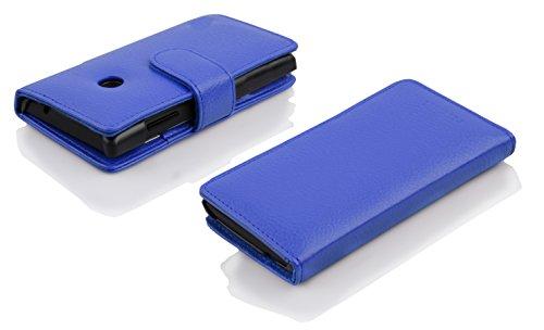 Cadorabo Hülle für Huawei Ascend Y330 - Hülle in KÖNIGS BLAU – Handyhülle mit Kartenfach aus struktriertem Kunstleder - Case Cover Schutzhülle Etui Tasche Book Klapp Style - 6