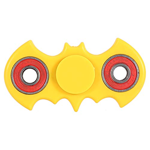 Batman Hands Finger Spinner, 4 colores Mini Spinner Focus Stress Reliever Autism ADHD Adult Kid Toys Finger Spinner Spinner Finger Gyroscope(Amarillo)