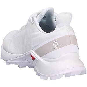 Salomon Women's Alphacross Trail Running Shoes, White/White/White, 10.5