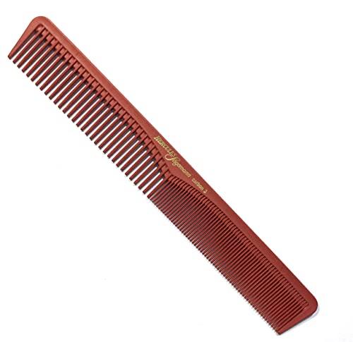 Hercules Sägemann HS C3 carbon 3 - Haarkamm - Profi Carbon Kamm für Haare + Bart - bruchfest - 7 \'\' - ca. 18 cm - Carbonkamm antistatisch - feine + grobe Zahnung - Styling für Männer und Frauen (3r)