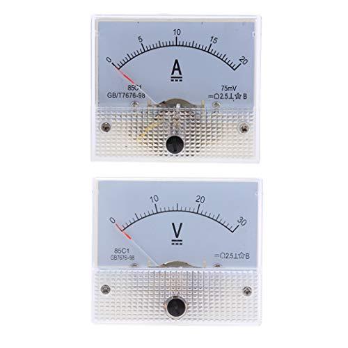 2pcs DC analoges Einbaumessgerät Amperemeter