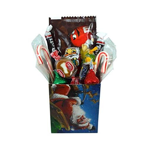 Personal Size Christmas Candy Treat Box Assortment- Santa Perfect Christmas Candy Stocking Stuffer Christmas Candy Individually Wrapped Ready for Gifting