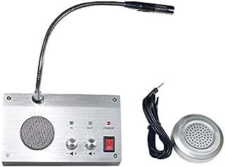 Bank Counter Window Intercom System Dual-way Intercommunication Microphone 3W
